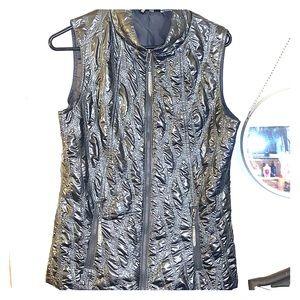 PINK metallic vest BNWOT